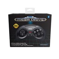 Accesoriu Retro Bit Official Sega Mega Drive Wireless Controller With Bluetooth Black Retro