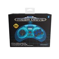 Accesoriu Retro Bit Official Sega Megadrive Wireless Controller With Bluetooth Clear Blue Retro