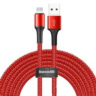 Baseus Halo Data Cable Usb For Ip 2A 3M Red