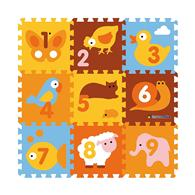 Covor Puzzle Din Spuma Animals 9 Piese