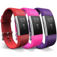 Curea Ceas Yousave Fitbit Alta Small Red Hot Pink Plum
