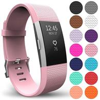 Curea Ceas Yousave Fitbit Charge 2 Large Blush Pink