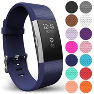 Curea Ceas Yousave Fitbit Charge 2 Large Dark Blue