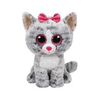 Jucarie De Plus Ty Beanie Boo Kiki The Cat Grey Plush Toy 23 Cm