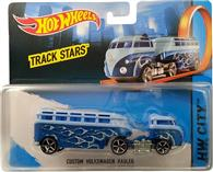 Jucarie Hot Wheels Track Stars Trailers Custom Volkswagen Hauler Blue