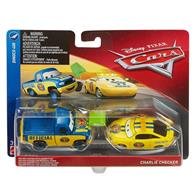 Masinute Disney Pixar Cars 3 Dinoco 400 Dexter Hoover With Green Flag Charlie Checker