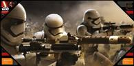 Poster Star Wars Episode 7 Battle Stormtroopers Glass