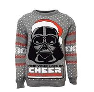 Pulover Darth Vader Christmas Grey L