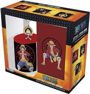 Set Abysse One Piece Luffy Mug320ml + Keychainpvc + Notebook Gift Box