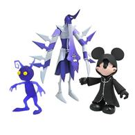Set Figurine Hooded Mickey Assassin And Purple Shadow