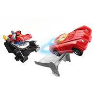 Set Hot Wheels Marvel Avengers Iron Man Armor Up Track