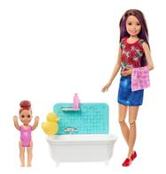 Set Jucarii Barbie Babysitters Bath Fun Playset
