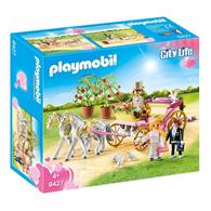 Set Playmobil City Life Wedding Carriage With Tin Can Trail