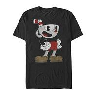 Tricou Cuphead Dont Deal Mens Black T-Shirt L