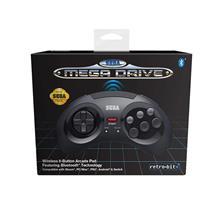 Accesoriu Retro Bit Official Sega Mega Drive Wireless Controller With Bluetooth Black Retro