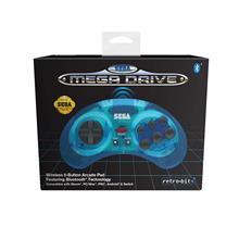 Accesoriu Retro Bit Official Sega Megadrive Wireless Controller With Bluetooth Clear Blue Retro