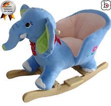 Babygo u2013 Balansoar Cu Sunete Elefantul Curios