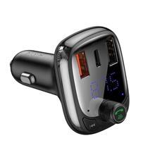 Baseus Fm Transmitter T Typed Bluetooth 5.0 2Xusb Usb-C Pd Qc 3.0 Microsd