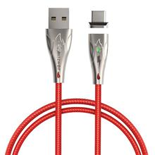 Blitzwolf Bw-Tc20 Magnetic Usb Type C Nylon Cable 3A 1 8M Red