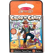 Carnet De Colorat Pentru Calatorie Aventuri Melissa And Doug