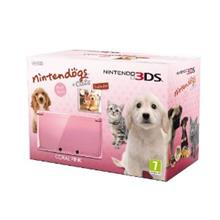 Consola Nintendo 3Ds Coral Pink Cu Nintendogs And Cats Golden Retriever