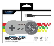 Controller Retro-Bit Classic 16-Bit Usb Pc