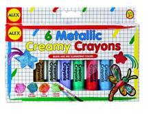 Creioane Moi In Culori Metalice Cu Pensula Alex Toys