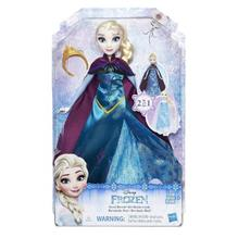 Disney Frozen - Papusa Elsa Cu Rochita 2 In 1