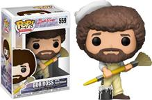 Figurina Pop Television Bob Ross With Paintbrush