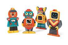 Figurine Magnetice - Roboti - Janod (J07037)