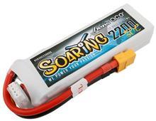 Gens Ace Soaring 2200Mah 11.1V 30C 3S1p Lipo Battery Pack With Xt60 Plug
