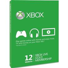 Gold Card Xbox 360 Live 12 Months Xbox360