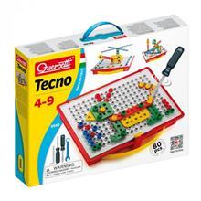 Joc Constructie Copii Tecno Quercetti Cutie Transport Si Depozitare 80 Piese imagine