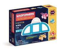 Joc De Constructie Magnetic Magformers - My First - Masina Albastra (14 Piese)
