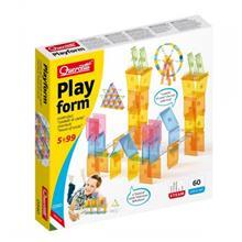 Joc Educativ Pentru Copii Quercetti Playform 0340 Joc Constructie 60 Piese Tip Panouri Transparente Si Multicolore Din Plastic imagine