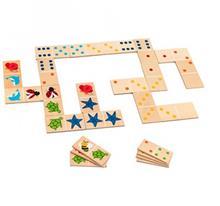Joc Pentru Copii Domino 28De Piese In Cutie Globo Legnoland