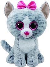 Jucarie De Plus Ty Beanie Boo Kiki The Cat Grey Plush Toy 40Cm
