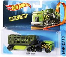 Jucarie Hot Wheels Track Stars Trailers Caged Cargo Green imagine