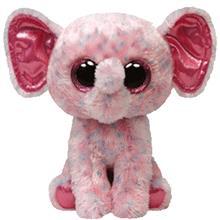 Jucarie Plus Meteor Baby Ellie Elefant Roz 15 Cm