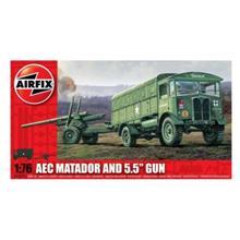 Kit Automodele Arifix 01314 Camion Aec Matador And 5.5 Gun Scara 1:76