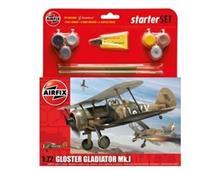 Kit Constructie Si Pictura Avion Gloster Gladiator Mk.I
