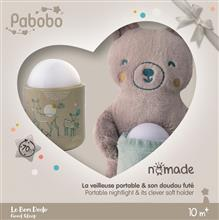 Lampa De Veghe Pabobo Nomade Cu Ursulet Plus Culoare Bej Cu Led Reincarcabila imagine