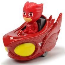 Masina Dicki Toys Eroi In Pijamale Owl-Glider Cu Figurina