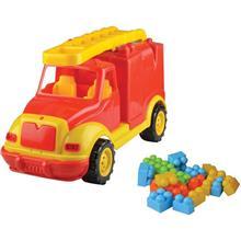 Masina Pompieri 43 Cm Cu 38 Piese Constructie In Cutie Ucar Toys Uc85