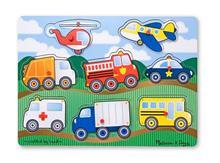 Melissa&Doug Puzzle Lemn Vehicule