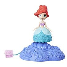 Mini Figurina Disney Princess Ariel Cu Suport Rotativ