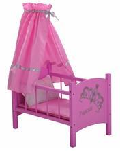 Patut Din Lemn Pentru Papusi Diadem Pink