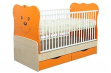 Patut Transformabil Mykids Teddy Natur-Orange Cu Leg 4837