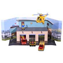 Pista De Masini Dickie Toys Fireman Sam Sam Fire Rescue Team Cu 3 Masinute 1 Elicopter Si 1 Figurina