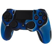 Pro Soft Silicone Protective Cover With Ribbed Handle Grip Blue Ps4